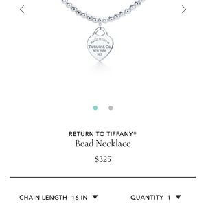 Tiffany's sterling silver bead necklace